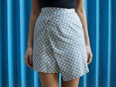 diy asymmetric hem skirt