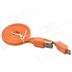 Flat cable; Used for charging and data sync. It is also convenient to carry anywhere. Its precise design can be perfectly apply to your device. http://j.mp/1uNRiFW