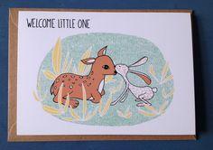 Een persoonlijke favoriet uit mijn Etsy shop https://www.etsy.com/nl/listing/274976464/greeting-card-welcome-little-one-baby