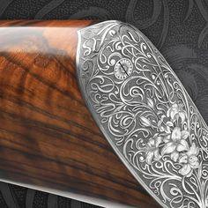 Rifle Stock, Gun Art, Hunting Rifles, White Lilies, Surfboard, Wood Projects, Lily, Shotguns, Fantasy