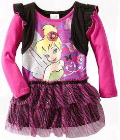 Disney Girls Clothing Tinkerbell Tutu