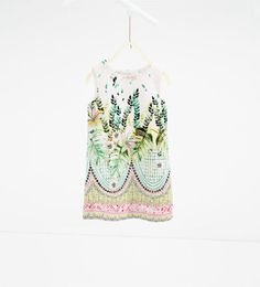 Leaf print dress-View All-DRESSES AND JUMPSUITS-GIRL | 4 - 14 years-KIDS | ZARA Hungary