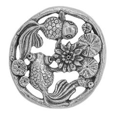 40x28mm Pewter #Koi Pond Component by Green Girl Studios | #FusionBeads