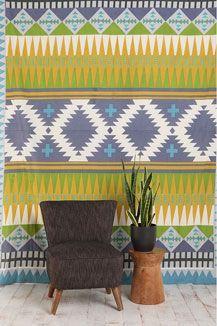 Native Stripe Tapestry Throw
