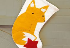 Sweet Felt Fox Stocking with @Kata Golda on Creativebug #handcraftedholiday #HoliDIY #creativebug
