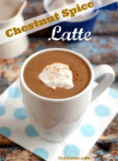 Chestnut Spice Latte: a perfectly delicious, rich and creamy comfort drink! #Vegan and #sugarafree | rickiheller.com