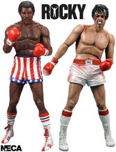 """Action Figures 7"""" de Rocky Balboa e Apollo Creed"""
