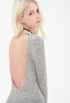Heathered Scoop-Back Top | FOREVER 21 - 2000114738