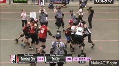 Tucson Game 1: Terminal City Rollergirls v Tri City Roller Derby is an animated gif that was created for free on MakeAGif.
