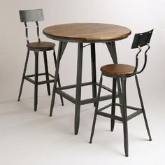 Hudson Pub Table Collection  If you ever want to step away from the kitchen table/dining table combo and just go with a high top.