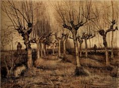 Pollard Birches - Vincent van Gogh