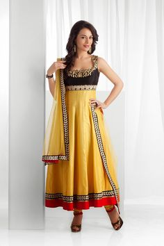 Yellow Colored #Anarkali Suit