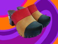 Zuecos divertidos originales retro y muy cómodos por QueChulaShoes, €75.00