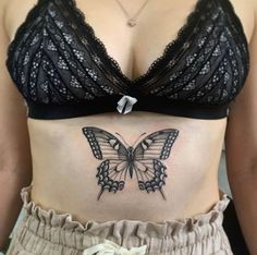 Monarch Butterfly Tattoo, Butterfly Tattoos For Women, Butterfly Tattoo Designs, Chest Tattoo Butterfly, Chest Tattoo Flowers, Vintage Butterfly Tattoo, Neck Tattoos Women, Chest Tattoos For Women, Hand Tattoos For Guys