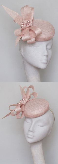 Pastel Pink Smartie Percher Headpiece Hatinator Fascinator with Swarovski Pearls, for Kentucky Derby, Del Mar, Epsom, Royal Ascot. Gold Lace Veiled Floral Fascinator for Racing Day at the Races, Dubai World Cup racing fashion inspiration. Spring wedding outfits, Mother of the bride. #kentuckyderby #royalascot #fascinators #springwedding #weddingguest #millinery #weddings #derbyoutfits #racingfashion #ascothats #derbyhats #handmadeonetsy #affiliatelink #handmadeisbest #swarovski #passion4hats