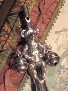 Antique Rattle Teddybear Edwardian by DecojumeauAntiques on Etsy, $375.00