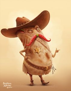 the mexican burrito vs sushi by Aleksey Baydakov, via Behance