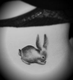 If I ended up getting a bunny tattoo I'd have to get a REAL bunny as follow up. This is pretty cute, though.