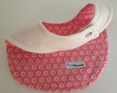 Valentines Day Bib Fleece Cotton Rose Pink Circles Dots