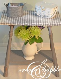 Houndstooth Stenciled Table