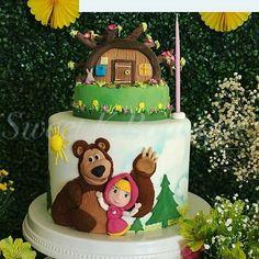 Fofura de inspiração que vi no @ideiasdebolosefestas no tema Masha e o Urso.  Por @sweetkboutique  #festejarcomamor #festasinfantis #festa #mashaandthebear #mashaeourso #bolomashaeourso #mashaeoursofestejarcomamor