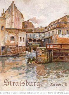 Strasbourg - Au bord de l'Ill - 1899 Franz Hoch