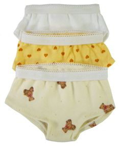 "Low Cut 3 Pack Underwear for 18"" American Girl Doll Clothes Sew Beautiful #DollClothesSewBeautiful"