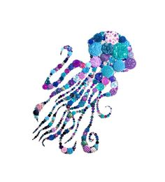 JELLYFISH JEWELS 8X10 Button Art Button Artwork by CherCreations