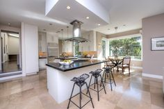 A gourmet kitchen with top-of-the-line appliance is another perk of this Tiburon home.