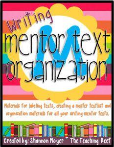 writing mentor text organization