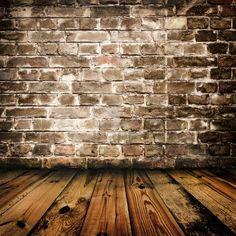 pared de ladrillo de grunge y piso de madera  Foto de archivo - 7507459