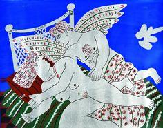 Αλέκος Φασιανος Greek Paintings, My Arts, Artwork, Work Of Art, Auguste Rodin Artwork, Artworks, Illustrators