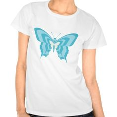 Blue butterfly tee shirts