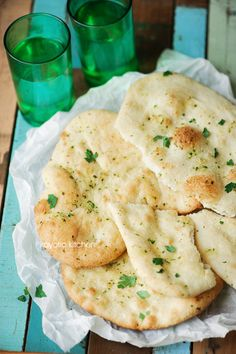 Garlic Parsley Naan