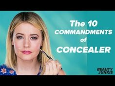 Beauty Tip on The 10 Commandments of Using Concealer Correctly by Jill Hilhurst. Check out more Makeup on Bellashoot. Using Concealer, How To Apply Concealer, Cream Concealer, Makeup Videos, Makeup Tips, Makeup Hacks, Makeup Products, Color Correction Makeup, Concealer