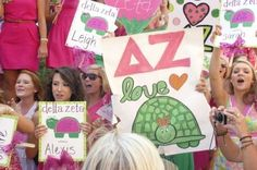 Big signs for Bid Day