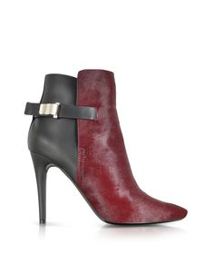 Proenza Schouler Bordeaux Kebir Haircalf and Rubber Ankle Boot at FORZIERI