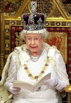 the Imperial State Crown,,,worn by Queen Elizabeth II