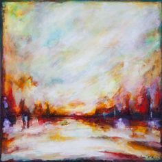 Fiery Rising by Laura Mulligan - PAINTING Artist, Painting, Painting Art, Paintings, Painted Canvas, Drawings, Artists