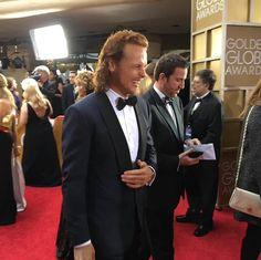 Sam Heughan (Jamie Fraser) on Outlander at the 2016 Golden Globes