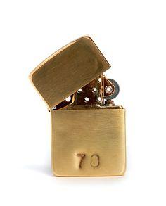 Customizable Brass Lighter. Great gift idea.