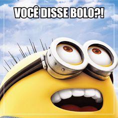 """Hummmm, quem não fica com a boca cheia de água quando ouve falar """"bolo""""?!  #DeniseValverde #Meme #Minions #Bolo"""