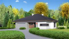 Projekt domu Dom przy Pastelowej bis Home Fashion, Bungalow, Gazebo, Outdoor Structures, Mansions, House Styles, Outdoor Decor, Home Decor, Country Houses