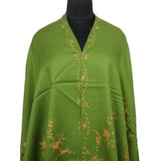 "Ibaexports Elegant Green Wool Blend Shawl Jamawar Jacquard Paisley Style Weaving Women Stole India 80"" X 40"" Inches IBA. $50.99"