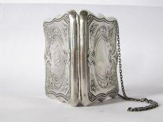antique victorian silver purse.