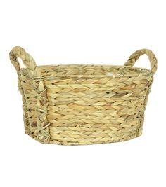 Organizing Essentials Cornhusk Oval Basket with Handles,  15'' x 12.5'' x 7.75''