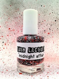 Midnight Affair :  Custom-Blended Glitter Nail Polish / Lacquer. $8.75, via Etsy.