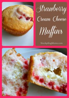 Strawberry Cream Cheese Muffins are an easy breakfast treat!