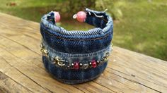 Hey, I found this really awesome Etsy listing at https://www.etsy.com/listing/289284119/upcycled-denim-cuff-bracelet