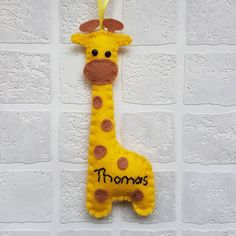 I forgot to show you this custom make, cute little personalised giraffe, this one was intended for a Christmas tree, but I reckon they would be great on a garland. Felt Giraffe, Christmas Tree, Christmas Ornaments, Garland, Holiday Decor, Cute, Teal Christmas Tree, Christmas Jewelry, Kawaii